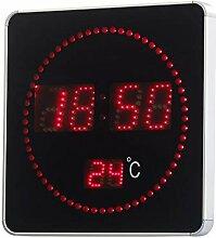 Lunartec Horloge Murale Radio-pilotée à LED