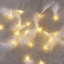 Luottus Guirlande lumineuse romantique avec plumes