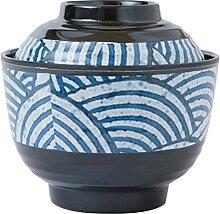 Lurrose 1 bol à Miso traditionnel avec couvercle