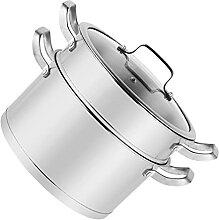 Lurrose Acier Inoxydable Vapeur Pot Métal Soupe