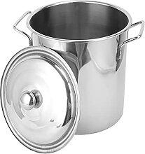 Lurrose Grand Stock Pot Soupe Pâtes Pot en Acier