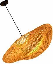 Lurrose Panier en Rotin Plafond Pendentif Lumière