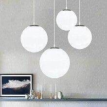Lustre boule en verre, Lampe suspension, Lampe