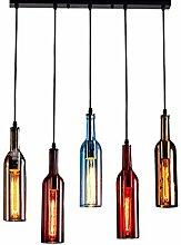 Lustre Bouteille Industriel Suspension Lumières