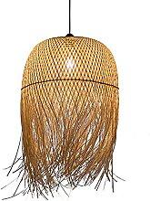 Lustre D'art En Bambou Simple Abat-jour