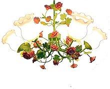 Lustre De Fleurs Verts Lampe De Salon Créatif
