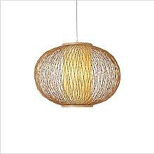 Lustre en bambou tissé à la main, lampe à
