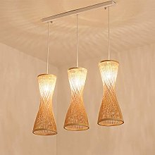 Lustre en bambou Vintage rotin lustre plafonnier