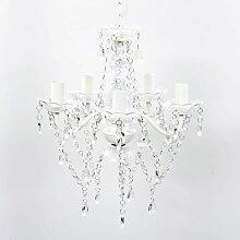 Lustre en cristal 5 ampoules Transparent