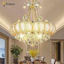 Lustre en cristal de luxe au design moderne,