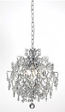 Lustre en cristal häringe chromé 3 ampoules