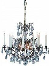 Lustre en cristal kronovall antique 6 ampoules