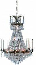 Lustre en cristal läckö antique 9 ampoules