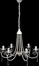 Lustre en cristal plafonnier 6 feux lampe