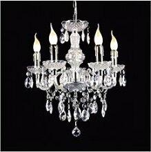 Lustre en cristal whiz chrome 5 ampoules