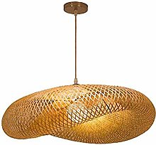 Lustre en rotin vintage abat-jour lampe en bambou