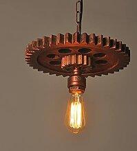 Lustre éolien industriel campagne lampe de fer