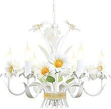 Lustre Fille Chambre Salon Lampe De Fleur En Métal