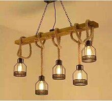 Lustre Industriel à Cordes 5 Ampoules - SILAMP