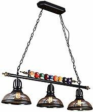 Lustre Industriel Rétro Art Du Fer Lampe 3 Light