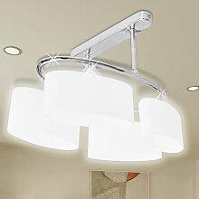 Lustre/ Lampe de Plafond Contemporaine 4 Abats