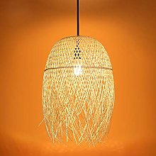 Lustre Lampe Vintage Suspension Bambou Lampe