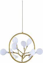 Lustre LCSD Moderne Creative LED Fleur Or Trois