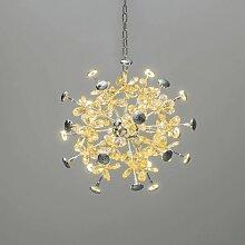 Lustre LED à papillons de cristal - Chloé -