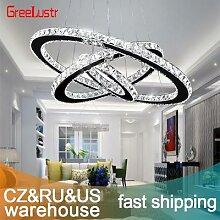 Lustre LED en cristal K9 au design moderne,