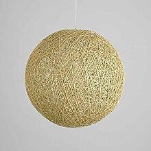 Lustre Moderne Boule Rotin LED E27 Abat Jour
