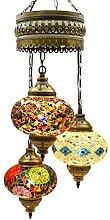 Lustre mosaïque, lampe turque, lanterne marocaine