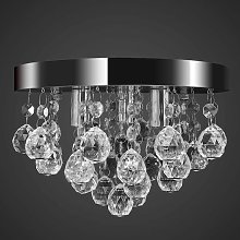 Lustre plafonnier contemporain cristal lampe