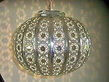 lustre plafonnier Marocain couleur argenté lampe