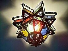 lustre plafonnier Marocain verres multicolores