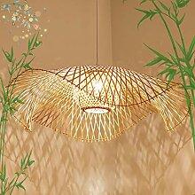 Lustre rétro en bambou Lustre en rotin de bambou