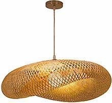 Lustre Rétro Lampe Suspension En Bambou Tissé