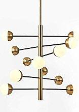 Lustre Spoutnik moderne nordique, 9 lumières en