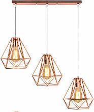 Lustre Suspension 3 Lumières E27 20cm Lampe