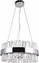 Lustre Suspension Cristal adelard 60cm Argent -