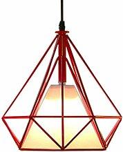 Lustre Suspension industrielle 25cm forme Diamant,