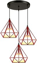 Lustre suspension industrielle luminaire forme