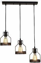 Lustre Suspension Industrielle Métal 3 Luminaire