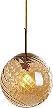lustre suspension salon en verre ambré Oblique