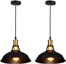 Lustre Suspension Vintage Industrielle Fer