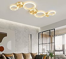 Lustres LED Gold Dimmable Salon Plafonnier Chambre