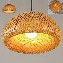 Lustres Vintage Lampe Pendentif Tissé Bambou