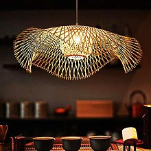 Lustres Vintage Lampe Suspension Tissé Pendentif