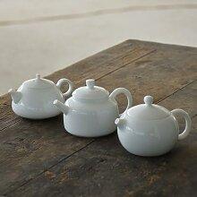 LUWU – théière chinoise en porcelaine blanche,