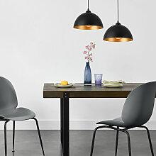 Lux.pro - Lot de 2 Lampes à Suspension Éclairage