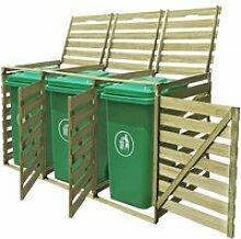 {LUXE}2597Elégant Abri pour poubelle triple Haut